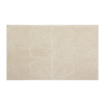 Stem Jacquard Bath Mat - Cream
