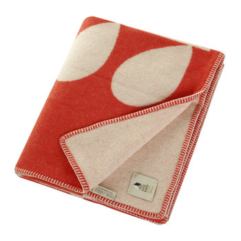 Giant Stem Apricot Throw - Cream Red