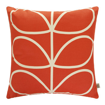 Linear Stem Cushion - 45x45cm - Red