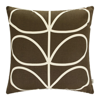 Linear Stem Cushion - 45x45cm - Chocolate