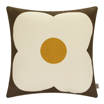 Giant Abacus Cushion - 45x45cm - Chocolate/Sunflower