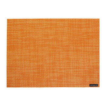 Basketweave Rectangle Placemat - Papaya Orange