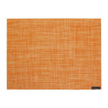 Mini Basketweave Rectangle Placemat - Clementine