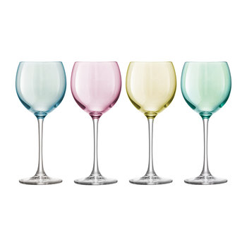 Verres à Vin Polka Assortiment - Lot de 4 - Pastel