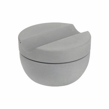 Shaving Cup with Sandalwood Soap - Grey