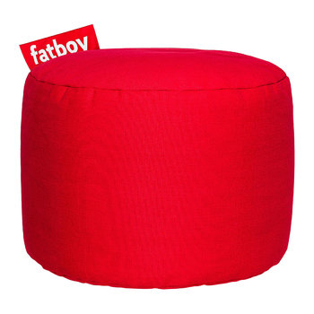 The Point Stonewashed Pouf - Red