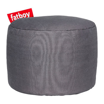 The Point Stonewashed Pouf - Dark Grey