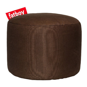 The Point Stonewashed Pouf - Brown