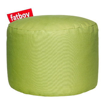 The Point Stonewashed Pouf - Lime Green
