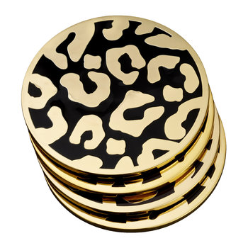 Leopard Coasters - Set of 4