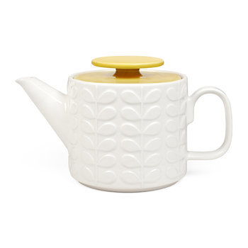 Raised Stem Teapot - Yellow