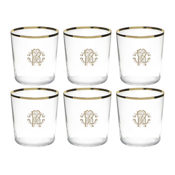Verres à l'Ancienne Monogram - Lot de Six - Or