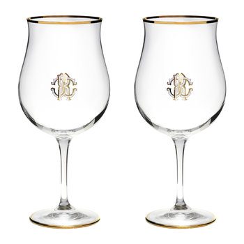 Verres Grand Cru Monogram - Lot de 2 - Or