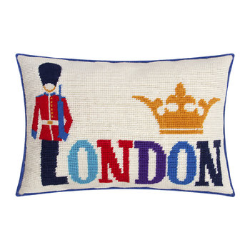 Jet Set London Cushion