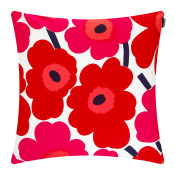 Pieni Unikko Cushion Cover - 50x50cm - White/Red