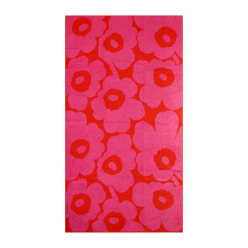 Unikko Beach Towel - Red/Pink