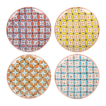 Assiettes Colour Hippy - Par Quatre