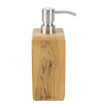 Teak Wood Soap Dispenser