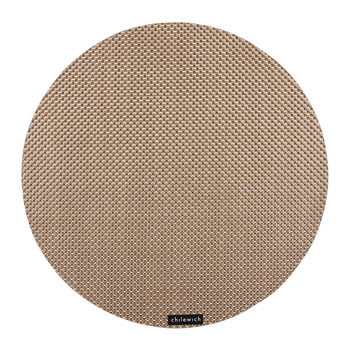 Basketweave Round Placemat - New Gold