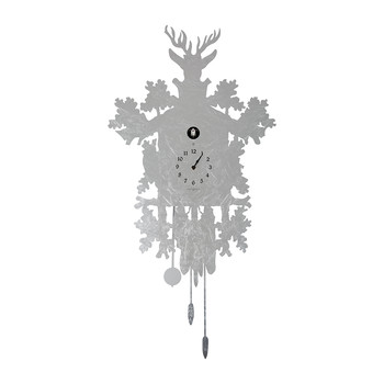 Cucù Clock with Bird - Stainless Steel