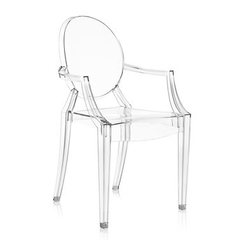 Louis Ghost Armchair - Crystal