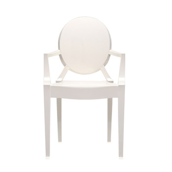 Louis Ghost Armchair - Glossy White