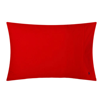 Taies d'Oreiller Polo Player - Rose Rouge - Set de 2