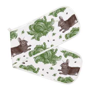 Rabbit & Cabbage Double Oven Glove - Classic