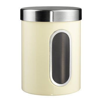 Kitchen Storage Canister with Window - Almond