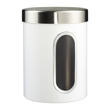 Kitchen Storage Canister with Window - White