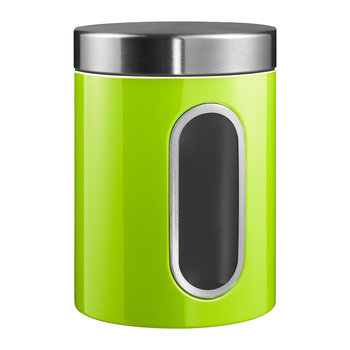 Kitchen Storage Canister with Window - Lime Green