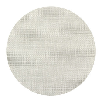Basketweave Round Placemat - Cement