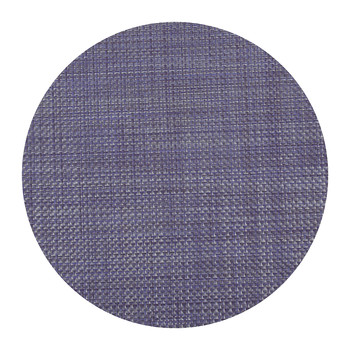 Basketweave Round Placemat - Purple