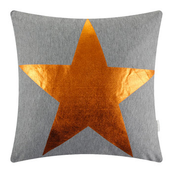 Star Print Pillow - Bronze
