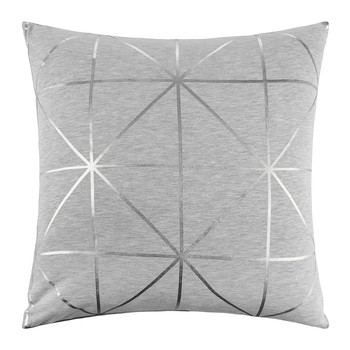 Diagonal Print Pillow - 45x45cm - Silver