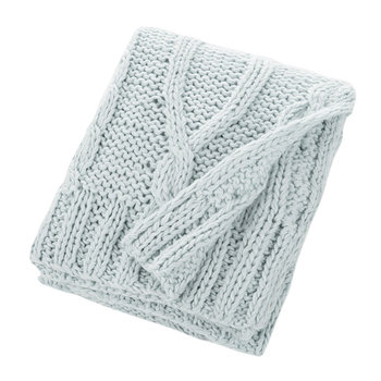 Knitted Throw - Sky Blue