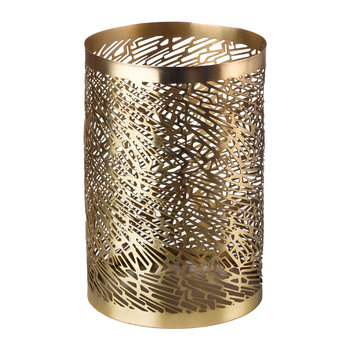 Pierced Candle Holder - Brass