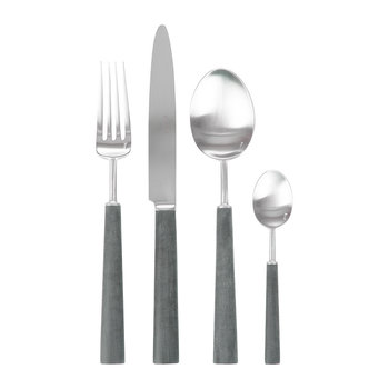 Ebony Flatware Set - 24 Piece