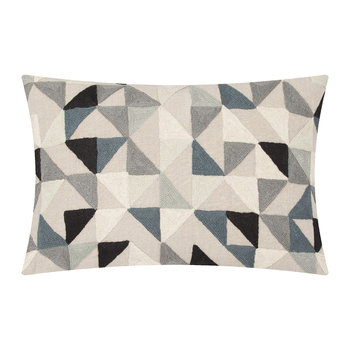 Harlequin Linen Cushion - 40x60cm - Grey