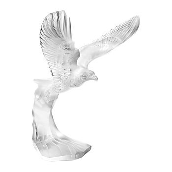 Clear Golden Eagle Figure