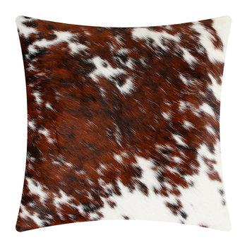 Speckled Cowhide Cushion - 45x45cm - Brown
