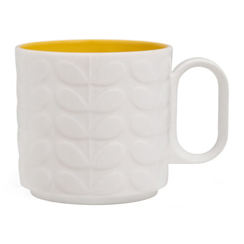 Large Raised Stem Mug - Yellow