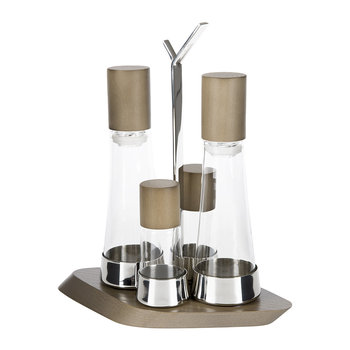 Trattoria 4 Piece Oil/Cruet Set - Tobacco