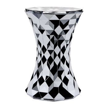 Stone Stool - Chrome