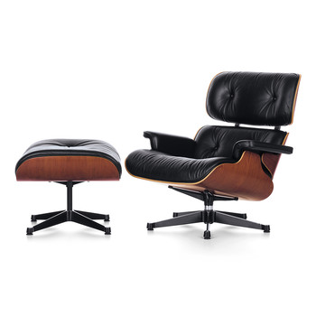 LCH Eames Lounge Chair & Ottoman - Cherry/Black