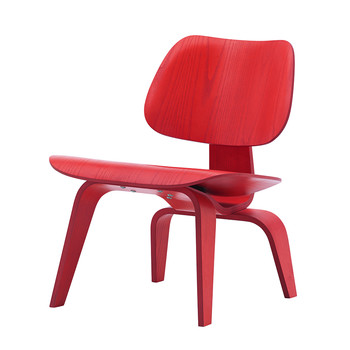 Eames LCW Chair - Red Stained Ash