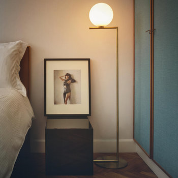 IC Floor Lamp - Brass