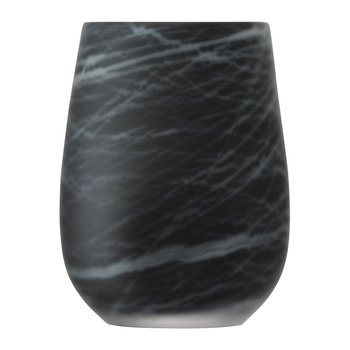 Silk Vase - White on Black