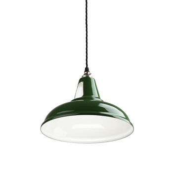 British Spun-Steel Factory Pendant - Green