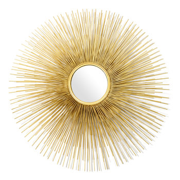 Round Prickle Mirror - Gold